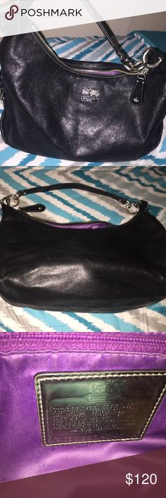 Black Coach purse Black Coach purse with two pockets & a zipper Coach Bags