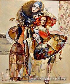 Блистательная Коломбина. Такая разная... / Авторская кукла известных дизайнеров / Бэйбики. Куклы фото. Одежда для кукол