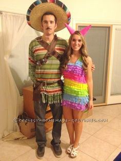 Mexican and piñata couples costume