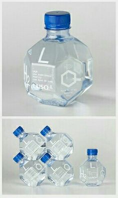 Clever popular bottle shape PD. Design labeling and packaging inspiration