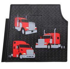 456fdc844da33 Peterbilt Trucks Motors Trim to Fit Vinyl Heavy Duty Rubber Semi Truck  Floor Mats