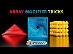 Blender – 3 Interesting Objects with the Array Modifier – modified Blender Character Modeling, Blender Tutorial, Video Game Development, 3d Tutorial, Blender 3d, Game Design, 3 D, Blog, Youtube