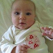 Organic Cotton Baby Kimono/Mushrooms appliqueé 0-3m 3-6m