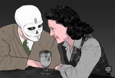 KRANE - Vanity, bones and skull ☠ illustrations and painting Crane, Skull Illustration, Bones, Anime, Painting, Fictional Characters, Art, Skull, Masks