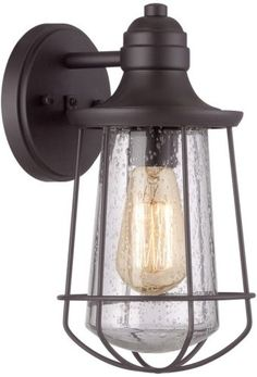 1 of 4 - Portfolio Valdara 11.5-in Black Outdoor and Wall Mounted Light Lamps Vintage NEW