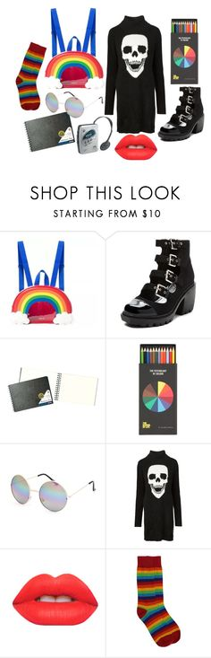"""""""#9"""" by midnightcrew on Polyvore featuring UNIF, Opening Ceremony, Full Tilt, Philipp Plein, Lime Crime and Sony"""