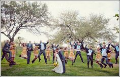 Jumping for love at last! The Windmill Winery, Big Barn Wedding Venue, AZ