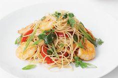 Get your chopsticks into these aromatic noodles packed with prawns and flavour.