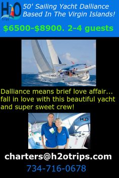 Wide open availability for yacht Dalliance after mid April. Contact us for booking inquiries
