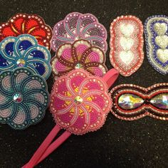 Bands coming. #beadwork #beadedheadbands #flowerheadband #flowers #native #alaskan #koyukon #athabascan