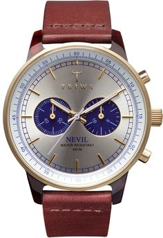 Triwa Nevil Blue Watch - Free Shipping from Watchismo.com