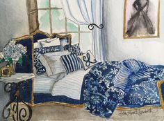 Ralph Lauren Interior Illustration — Lydia Marie Elizabeth