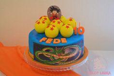 Torta de Goku y las esferas del dragon #DulceLaura #cakelife #goku #dragonball #cake #fondant