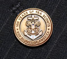 The Sea Scout Centennial Lapel Pin is available to all current Sea Scouts, Alumni, Scouting Professionals, and anyone interested in supporting the Sea Scout program. It is designed to be worn to help celebrate the 100th Anniversary of Sea Scouts.