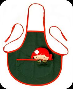 Kechunga children Apron.  Material: 65% polyester 35% cotton.  Size: 1 to 5 years old.  $15.75 approx.