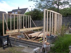 shed - frame construction. Reused second hand timber. Timber frame shed construction. Timber Cladding, Timber Flooring, Shed Frame, Shed Construction, Feather Painting, Reclaimed Timber, Outdoor Furniture, Outdoor Decor, Sheds