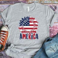 Sunflower svg SVG patriotic svg svg files for cricut Fourth Of July Crafts For Kids, Fourth Of July Shirts, 4th Of July, Patriotic Shirts, Marine Shop, Sunflower Clipart, Vinyl Shirts, Custom Shirts, One Design
