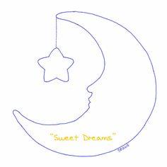 """Sweet Dreams"" Crescent Moon & Star Applique Design for Wool Diaper Covers (Copyright Chickadee & Me) www.chickadeeandme.com"