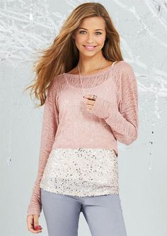 Belle Long Sleeve Layer Top $39.50  http://store.delias.com/product/belle+long-sleeve+layer+top+pointelle+307463.do?sortby=ourPicks