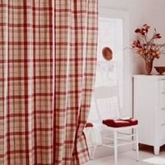Red and green plaid shower curtains   Go Mad for Red Plaid Shower Curtainsred and green plaid shower curtains   country stanton plaid  . Red And Cream Shower Curtain. Home Design Ideas