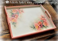 tace decoupage z kursu Asket decoupage malarski Decoupage Wood, Decoupage Ideas, Decor Crafts, Diy Crafts, Home Decor, Painted Boxes, Painting On Wood, Doilies, Handmade Gifts