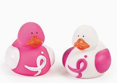A Pair of Breast Cancer Awareness Rubber Ducks, starting at $3 in today's Daily Bazaar!