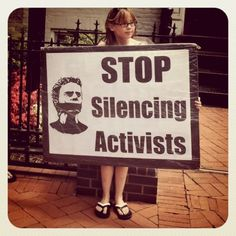 Stop silencing activists.