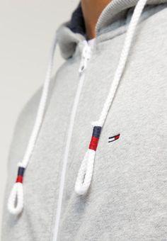 Hilfiger Denim Zip-up hoodie - grey for Free delivery for orders over Hilfiger Denim, Tommy Hilfiger Damen, Daily Fashion, Mens Fashion, Tracksuit Tops, Grey Tracksuit Mens, Tee T Shirt, Fashion Details, Fashion Design