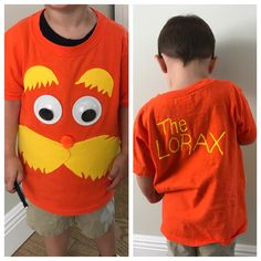 Diy dr seuss lorax costume super easy i used 2 different shades the lorax diy shirt happybirthdaydrseuss solutioingenieria Choice Image