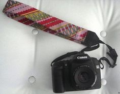 Recycled men's tie camera strap