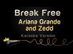 Ariana Grande and Zedd - Break Free (Karaoke Version) Karaoke Tracks, Karaoke Songs, Uptown Funk, Break Free, 20 Years, Ariana Grande, Cool Kids, Singing, King