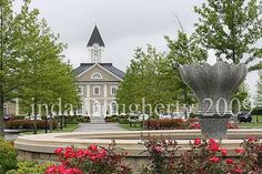 Main barn at Adena Springs View of the fountain and the new stallion barn at Adena Springs Farm in Paris, Ky.   by Linda Dougherty on flickr