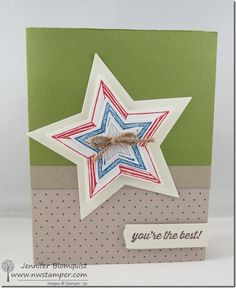 Patriotic card, Thank you card, or just a fun Star framelit card? You decide! | Northwest Stamper