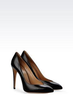 Emporio Armani Women Closed Toe Slip Ons - PUMP IN LUX KIDSKIN Emporio Armani Official Online Store