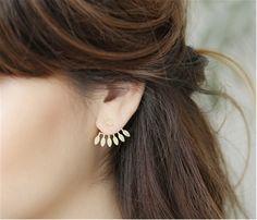 Boucles d oreilles · Odette et Lulu, boutique de créateurs romantique et  Rock Bijoux Argent, Boucle D  75a42ca6251