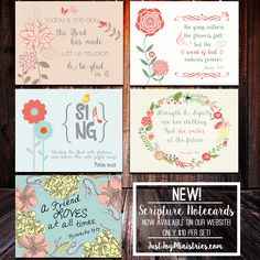 Get these cute notecards HERE:  www.justjoyministries.com