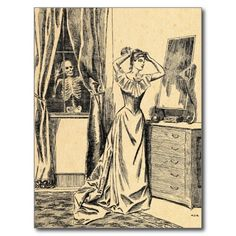 =>Sale on          	Skeleton Spying on Victorian Lady Vintage Goth Art Postcard           	Skeleton Spying on Victorian Lady Vintage Goth Art Postcard lowest price for you. In addition you can compare price with another store and read helpful reviews. BuyDiscount Deals          	Skeleton Spyin...Cleck See More >>> http://www.zazzle.com/skeleton_spying_on_victorian_lady_vintage_goth_art_postcard-239029482914216170?rf=238627982471231924&zbar=1&tc=terrest