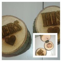 His/Hers rustic ringbox set #rustic #ringbox #wedding #myeienessie