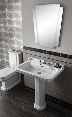 Waldorf 60 pedestal single tap hole basin in Waldorf | Bauhaus Bathrooms - Furniture, Suites, Basins - Ultimate Bathroom Solutions