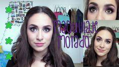 purple makeup! maquillaje morado para ojos cafeee!!!!!