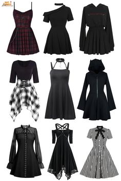 Kpop Fashion Outfits, Edgy Outfits, Cute Casual Outfits, Girl Outfits, Look Fashion, Girl Fashion, Fashion Design, Mode Emo, Mode Style