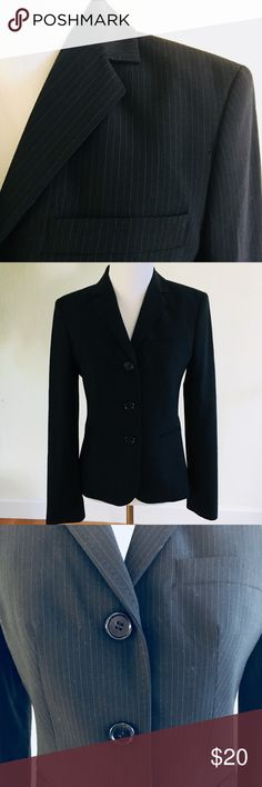 THE LIMITED Navy Pinstriped Blazer Achieve a classic, elegant professional look with this gorgeous navy pinstriped blazer! EUC - Worn only a few times for job interviews. Smoke free and pet free home. The Limited Jackets & Coats Blazers