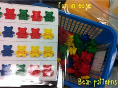 Work Task Wed. from Fun in ECSE--bear patterning