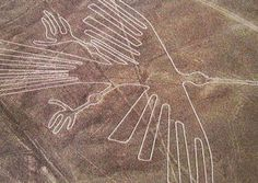 The Nazca lines is located in a town in the region of Ica in Peru, Nazca. Nazca lines has design such as images of humans, monkeys, birds and whales. Mysteries Of The World, Ancient Mysteries, Ancient Artifacts, Ancient Symbols, Historical Artifacts, Nazca Lines Peru, Nazca Peru, Machu Picchu, Archaeological Discoveries