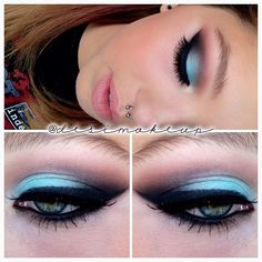 .@desimakeup | Prom makeup to match her bf's colors:) Mac aquadisiac on lid. Mac brown scrip...