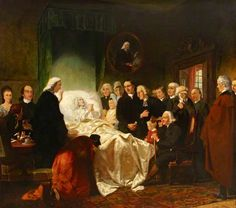 The Holy Triumph of John Wesley in His Dying by Marshall Claxton. Date painted: c.1842 Collection: John Wesley's House & The Museum of Methodism