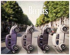 The Beetles @ Abbey Road. Get #VW #Peace #shirts here. www.etsy.com/listing/208314471/vw-peace-shirt-unisex-yingyang-original