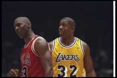 "Michael Jordan and ""Magic"" Johnson - two NBA Icons"