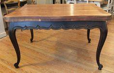 Table louis xv patinée noir bois naturel painting furniture