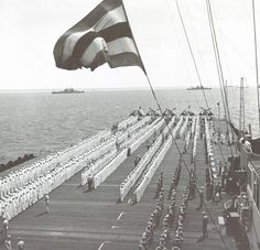 USS Hornet after the Battle of the Philippine Sea June 1944 Uss Hornet Cv 12, Standing At Attention, Great Photographers, Aircraft Carrier, World War Ii, Wwii, Philippines, Battle, History